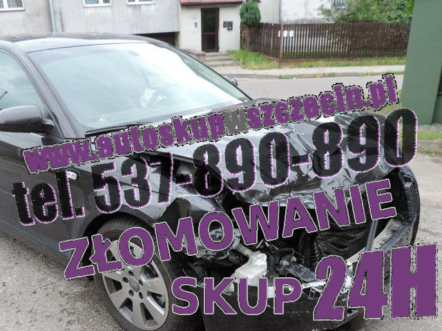 skup aut rozbitych węgorzyno