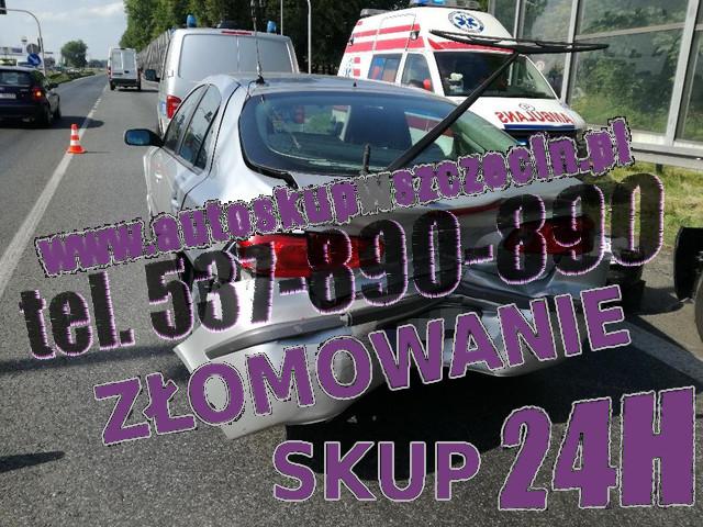 skup aut uszkodzonych sławno